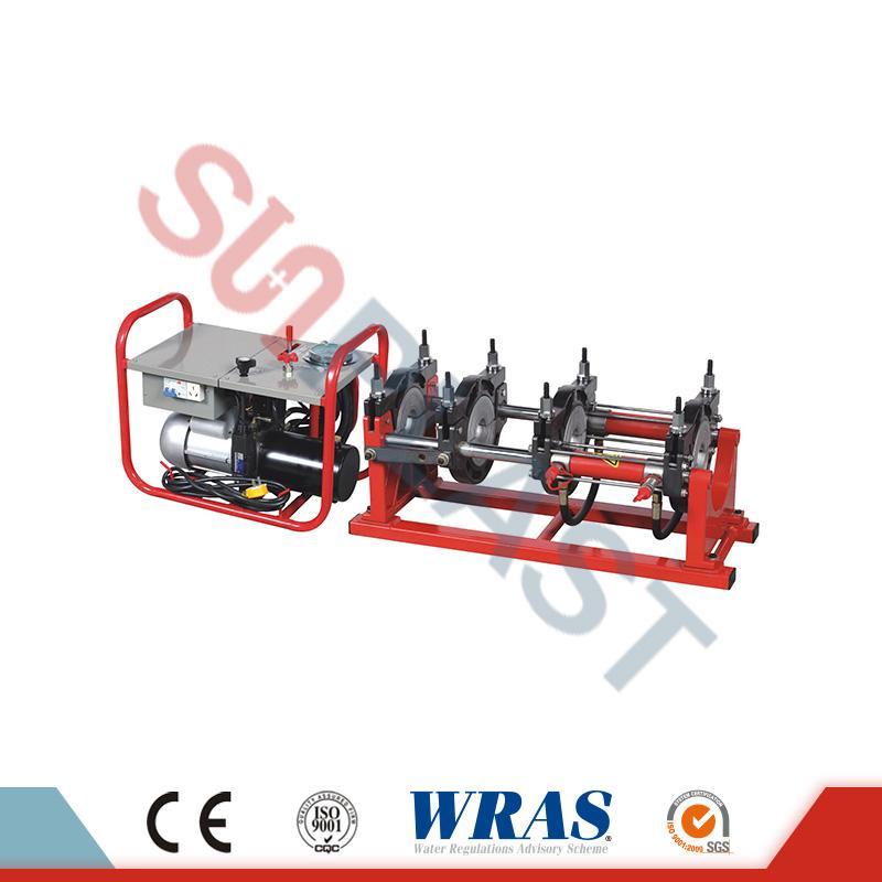 Máquina de soldadura de fusión a tope manual / hidráulica de 63-200 mm para tubos de HDPE