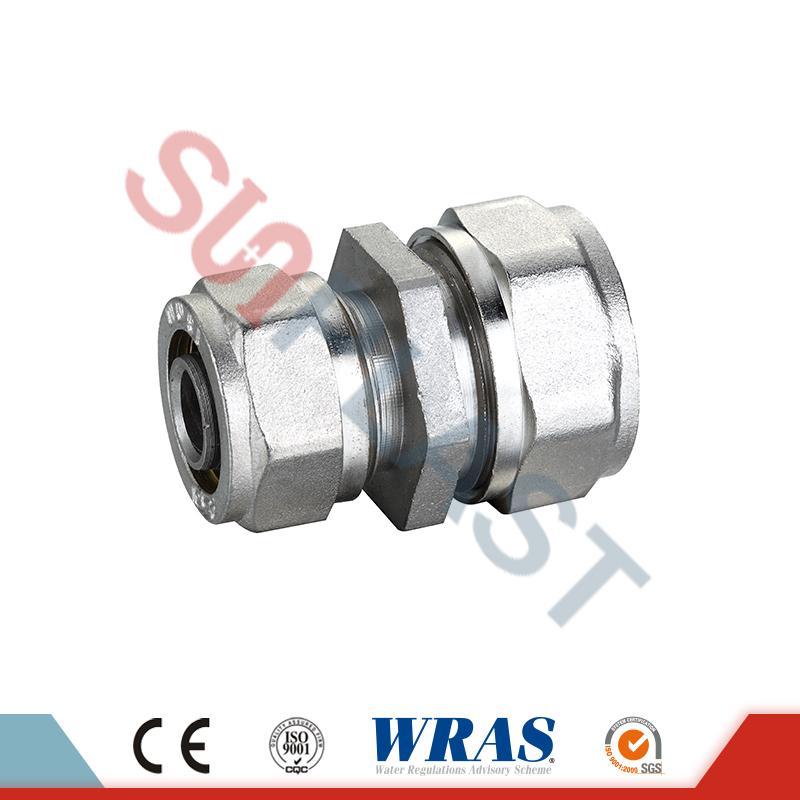 Acoplamiento reductor de compresión de latón para tubería multicapa PEX-AL-PEX