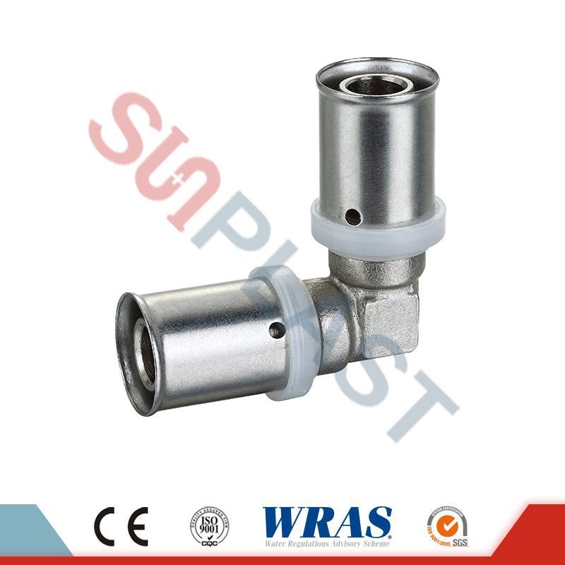 Accesorios de codo de presión de latón para tubería multicapa PEX-AL-PEX