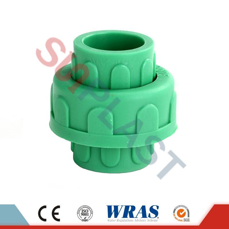 Unión de plástico verde PPR